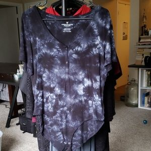 American eagle short sleeve body suit